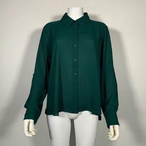 INC International Concepts Top Blouse Green Sz L